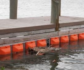 steel boom floating barrier