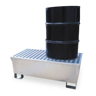Metal spill containment pallet