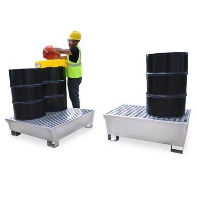 Galvanized metal pallets